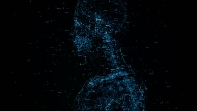 stockvideo's en b-roll-footage met digitaal menselijk lichaam - robot