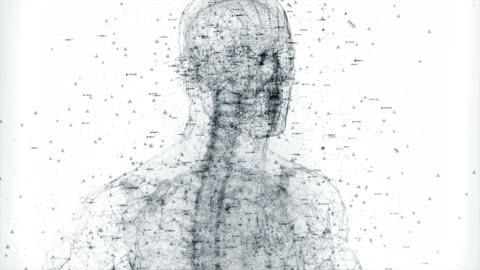 vídeos y material grabado en eventos de stock de cuerpo humano digital - holograma