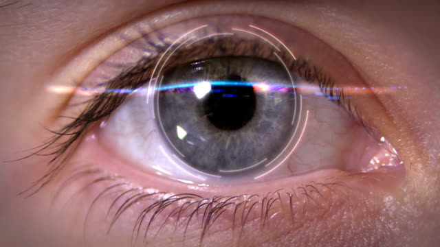 digital iris scanning for security - sensory perception stock videos & royalty-free footage