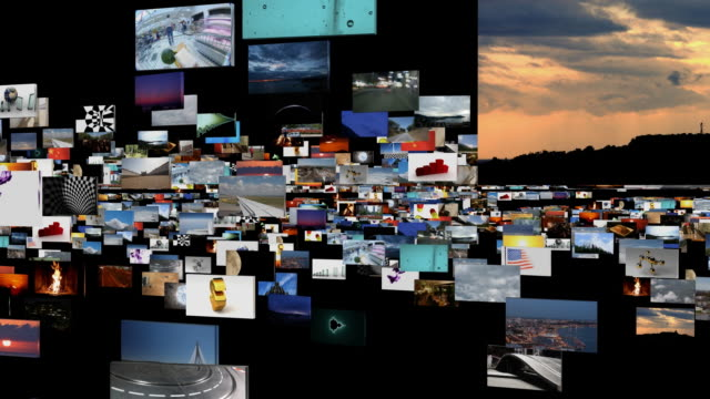 digital journey on black - liquid crystal display stock videos & royalty-free footage