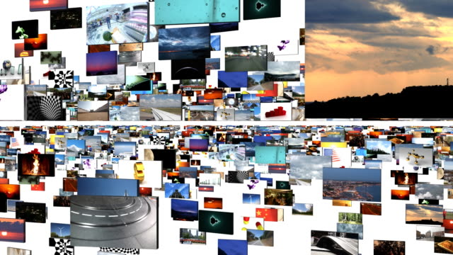 digital journey on white - video wall stock videos & royalty-free footage