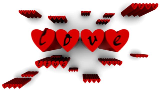 vídeos de stock, filmes e b-roll de amor digital - símbolo conceitual