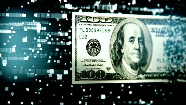 vídeos de stock, filmes e b-roll de transferência de dinheiro digital - casa de câmbio