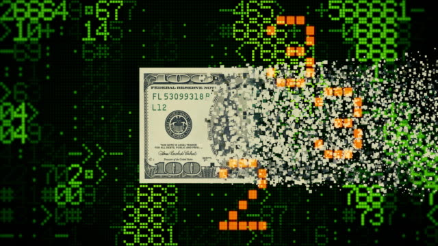 digital money transfer - american one hundred dollar bill stock videos & royalty-free footage