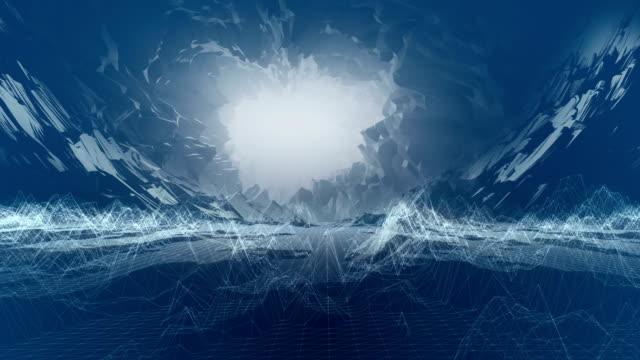 Digitale bergen animatie. Virtuele realiteit opleiding