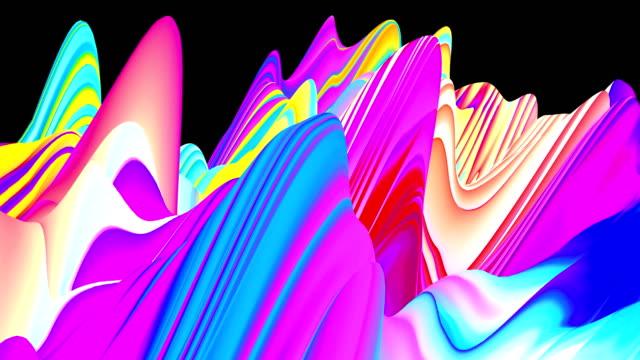 digital mountains peaks seamless loop animation - spectrum stock videos & royalty-free footage
