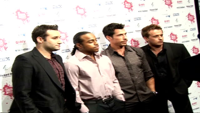 celebrity photocalls and interviews totally boy band upper street members dane bowers bradley mcintosh danny wood and jimmy constable posing for... - boy band stock videos & royalty-free footage