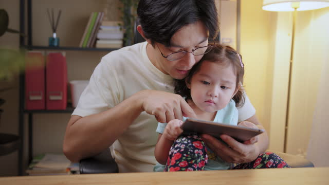 digital native with little girl. - digital native stock videos & royalty-free footage