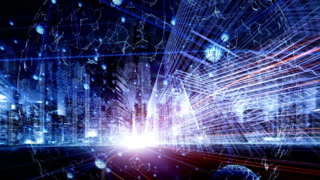 digitale netzwerk-konzept - internet der dinge stock-videos und b-roll-filmmaterial