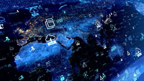 stockvideo's en b-roll-footage met digitale netwerkverbinding en social media loopbare achtergrond 4k - ingewikkeldheid