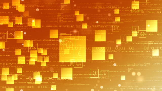 digital network connection and social media loopable background 4k - orange colour background stock videos & royalty-free footage