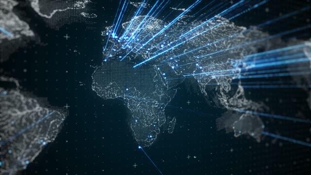 digitale netzwerkverbindung rund um die welt loopable 4k - gelegenheit stock-videos und b-roll-filmmaterial