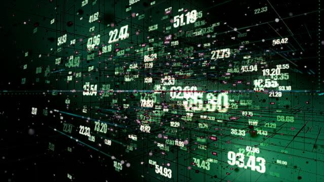 vídeos de stock e filmes b-roll de digital network numbers - grande sistema informático