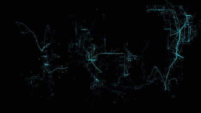digitales netzwerk - stromnetz stock-videos und b-roll-filmmaterial