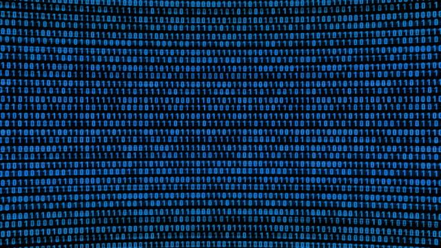 digital noise, hd looping background. - binary code stock videos & royalty-free footage