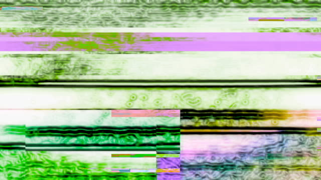 Digital Noise Video Glitch