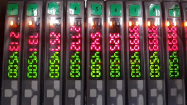 digital number on sensor panel - robotic surgery stock videos and b-roll footage