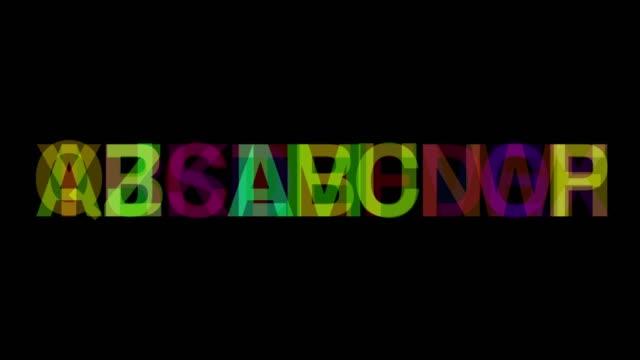 vidéos et rushes de fond de chiffres numériques - lettre de l'alphabet
