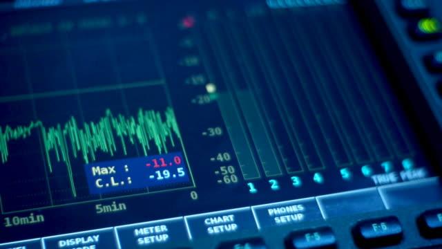 digital oscilloscope - sound recording equipment stock videos & royalty-free footage