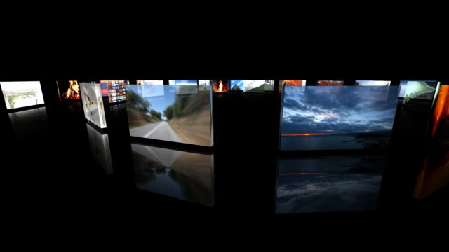 digital panels rotating - video wall stock videos & royalty-free footage