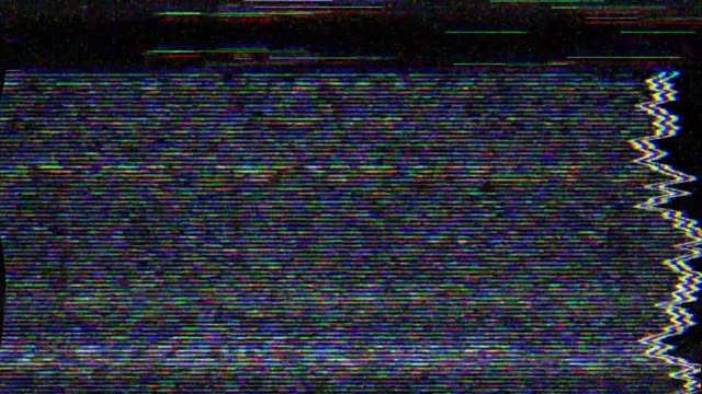 digital pixel noise glitch error video damage - distorto video stock e b–roll