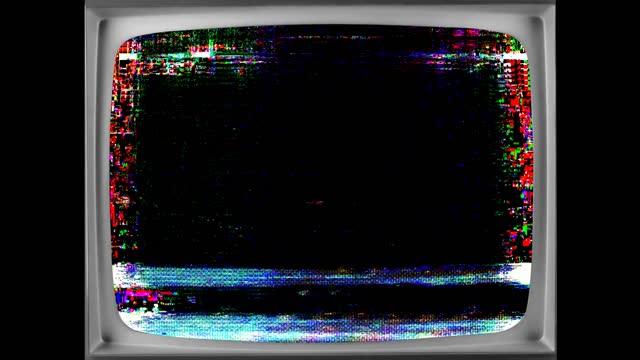 vidéos et rushes de dégâts vidéo d'erreur de glitch de pixel numérique - technique grunge du papier froissé
