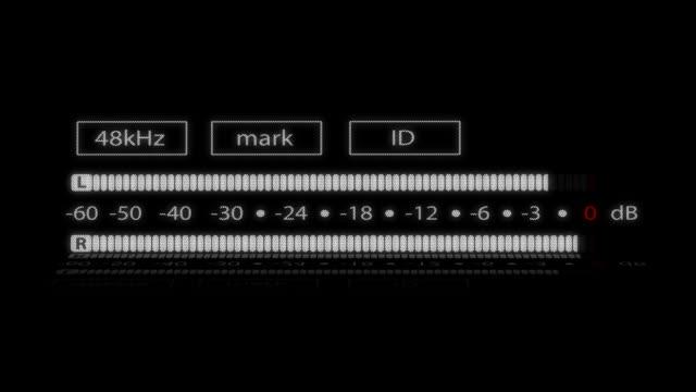 vidéos et rushes de l'enregistrement numérique vu carrés - matériel hi fi