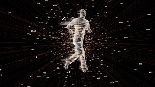 digitala kör siluett med siffror - blurred motion bildbanksvideor och videomaterial från bakom kulisserna