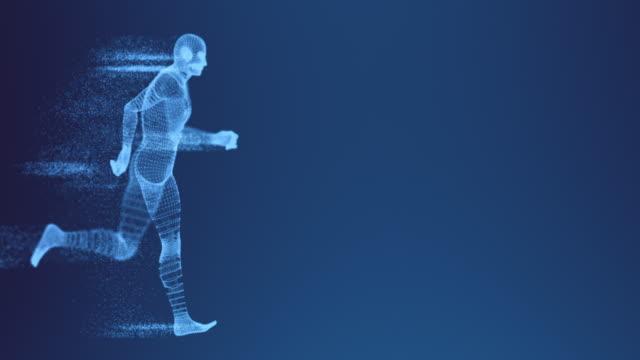 digital kör tråd inramade modell med siffror - blurred motion bildbanksvideor och videomaterial från bakom kulisserna