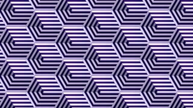 digitale nahtlose loop-animation von beweglichen offenen boxen mit animierter gestreifter textur. 3d-rendering. 4k, ultra hd auflösung - zerkratzt stock-videos und b-roll-filmmaterial