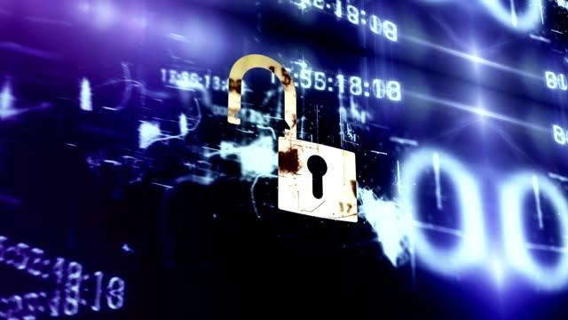 vídeos de stock, filmes e b-roll de digital de segurança - manipulação digital