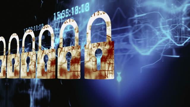 vídeos de stock, filmes e b-roll de digital de segurança - privacidade