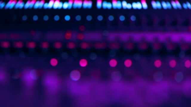 vidéos et rushes de mixeur de son numérique - synthpop