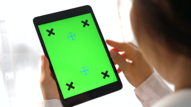 digital tablet ,chroma key - lab coat stock videos & royalty-free footage