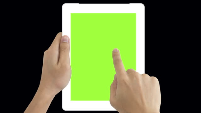 digital tablet green screen to show your idea - classified ad stock videos and b-roll footage