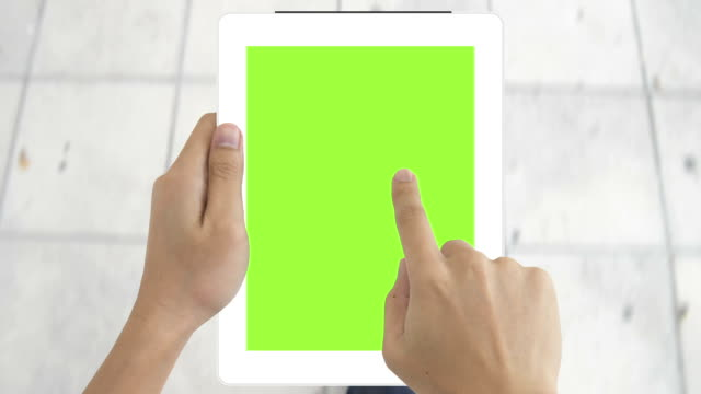 digital tablet green screen to show your idea - classified ad stock videos & royalty-free footage