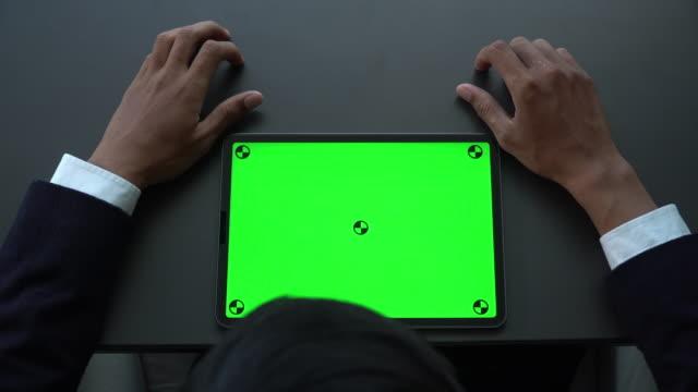 digital tablet green screen - computer monitor mockup stock videos & royalty-free footage