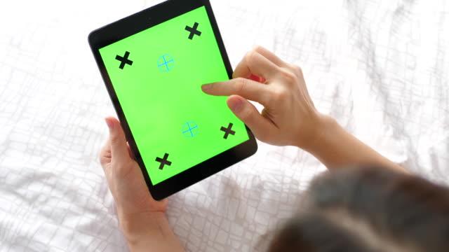 Digitala tablett grön skärm