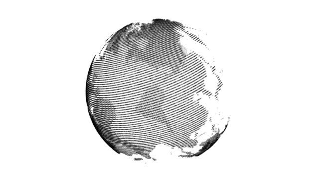 vidéos et rushes de digital technologic globe 4k stock vidéo noir - nombre d'or