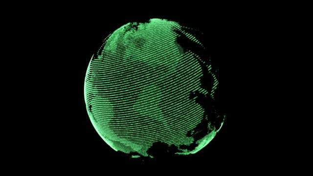 vidéos et rushes de digital technologic globe 4k stock video - nombre d'or