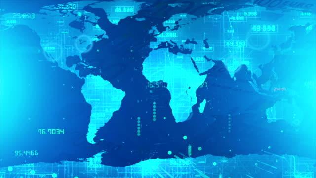 デジタル技術の背景、もの、大きなデータ、cryptocurrency のインターネット - big data点の映像素材/bロール