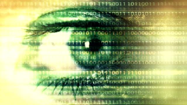 デジタル技術バック グラウンド ループ - バイナリーコード点の映像素材/bロール
