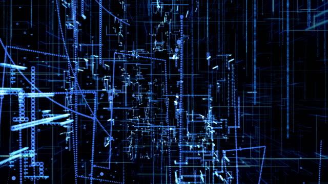digital technology background,4K,blue color