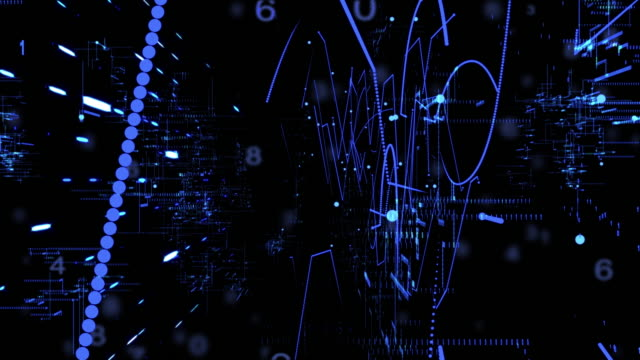 Digital Technology Concept,blue color