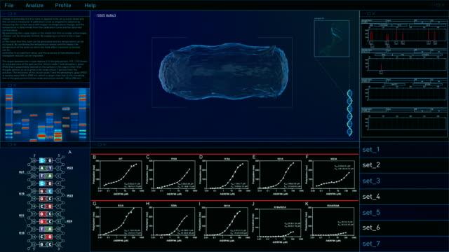 interfaccia utente della tecnologia digitale. batteri - attrezzatura per la ricerca video stock e b–roll