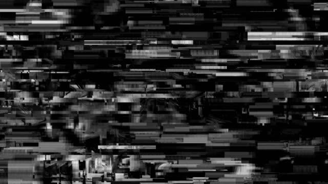 vídeos de stock, filmes e b-roll de padrão de falha de televisão digital - dissolving