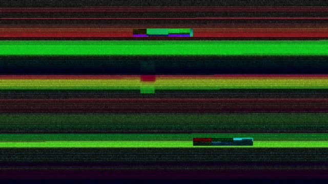 stockvideo's en b-roll-footage met digitale televisie glitch patroon - korrelig