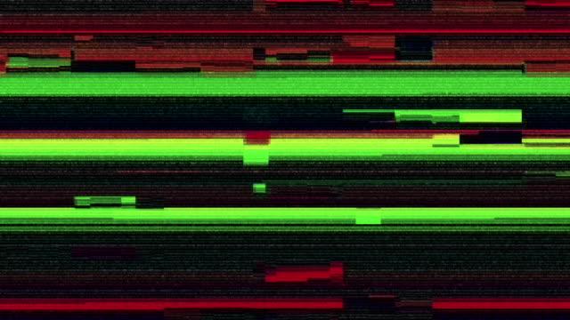 デジタル テレビ故障パターン - 歪んだ点の映像素材/bロール