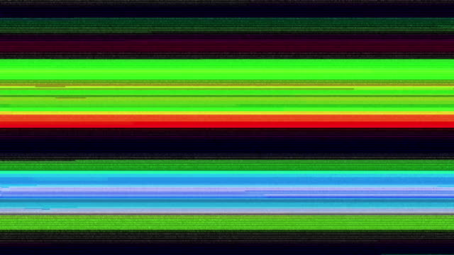 digital television glitch pattern - distorto video stock e b–roll
