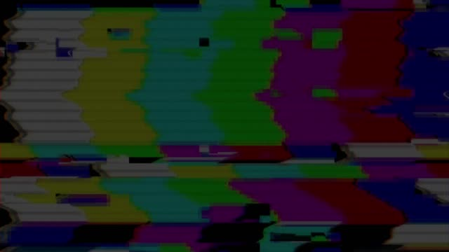 Digital television glitch pattern